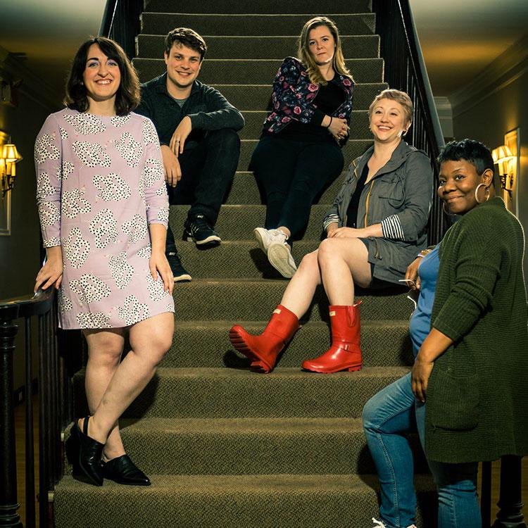 From Left: Anna C. Really, Jesse LE, Helen Wildy, Sarah Wojdylak, Samantha Bentley