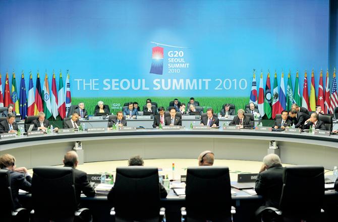 The G20 Summit in Seoul in 2010
