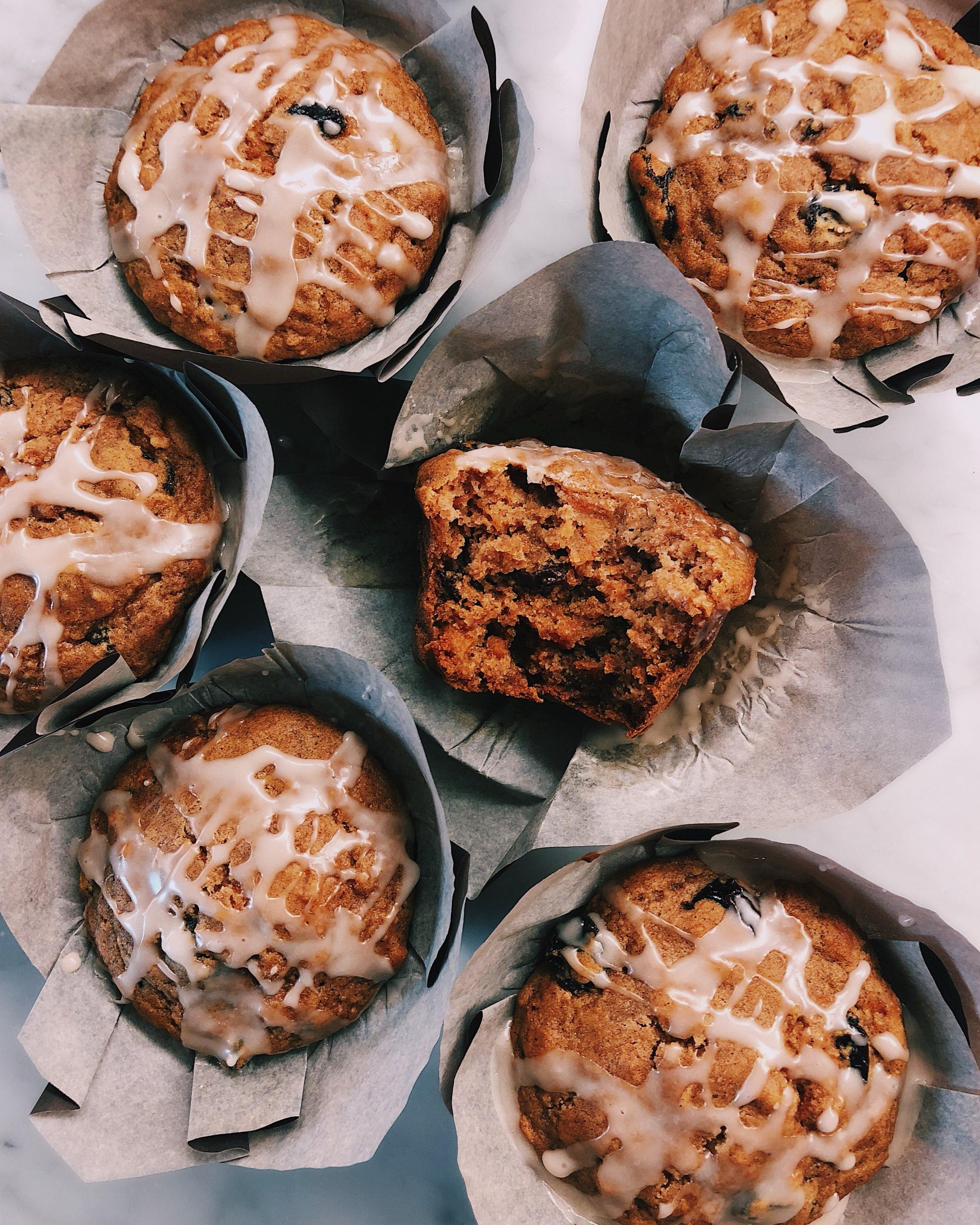 Bakery Style Glazed Carrot Cake Muffins Nicole Modic