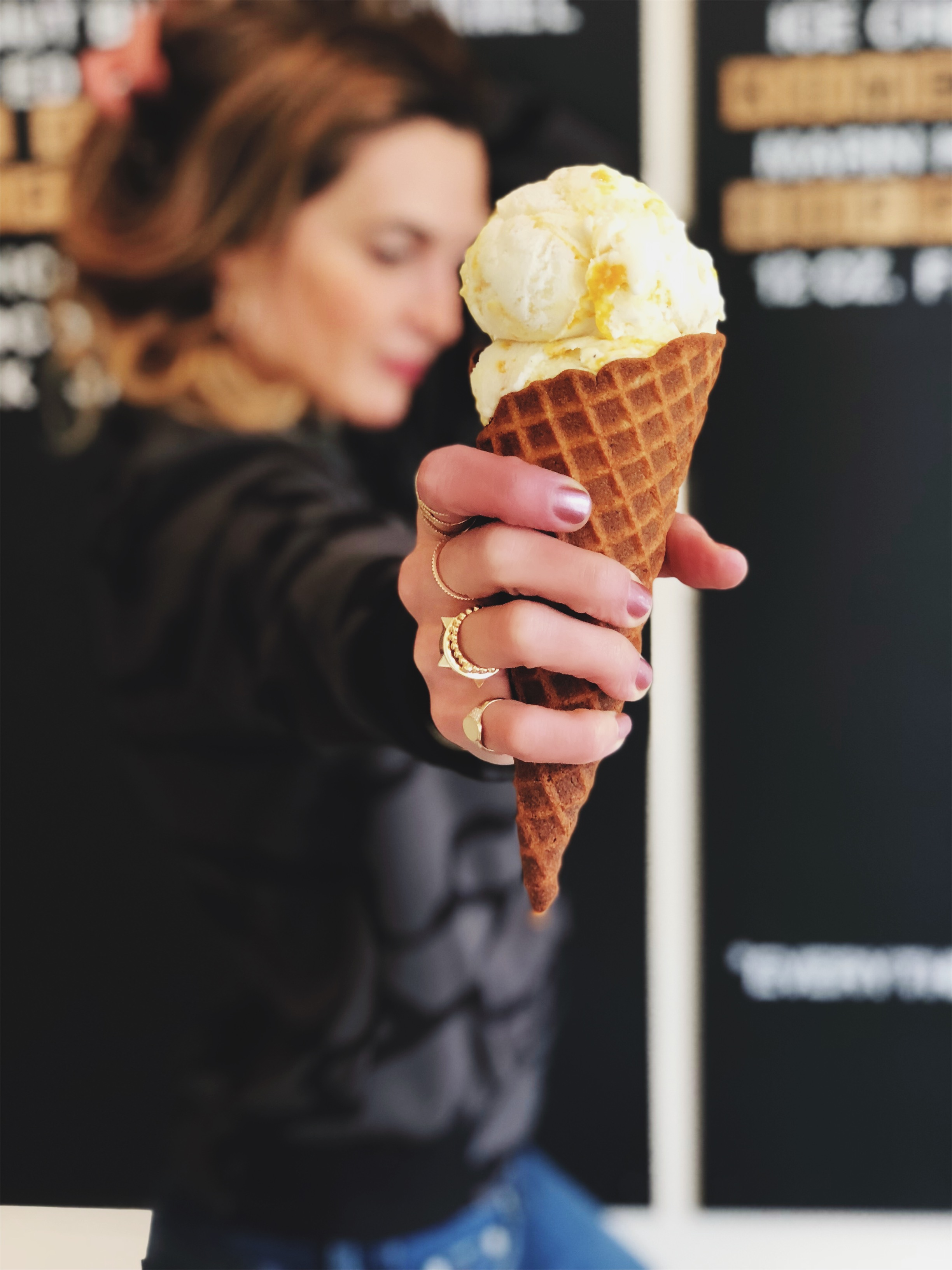 """THE KALEJUNKIE DISH: TRIGGER FOODS - Let's chat. TRIGGER FOODS. A trigger food is any food that """"triggers"""" an emotional response. For me, it's ice cream, because my ice cream binges are very vivid and very painful memories of a confused, stressed, overworked, and unhappy version of myself. I'd routinely binge at home on gallon size containers of mint chip ice cream in order to feel more in control of stressful situations in my life. Then I'd purge, because purging on ice cream is really easy to do. I did this hundreds of times. The days of the ice cream binges are GONE, but I still don't keep it in my house. Not because I'm afraid of a relapse, but because I acknowledge that it's my trigger food, and I've turned the negative relationship I had with this particular food into a positive one. For me, that now means enjoying it outside of my home, creating memories with my boys and friends."""