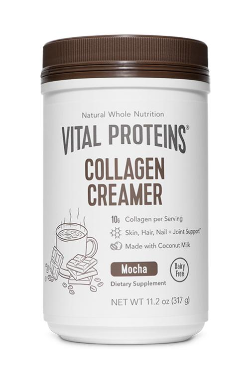 VITAL PROTEINS MOCHA CREAMER - If you are looking for a non-dairy creamer for your coffee, that's packed with collagen and is MOCHA flavor, I highly recommend the one from Vital Proteins. Unlike other non-dairy creamers that clump in your coffee, I haven't experienced that with this one. And, the taste is great. Get one for mom, sis, friends, they will all thank you! ($29)