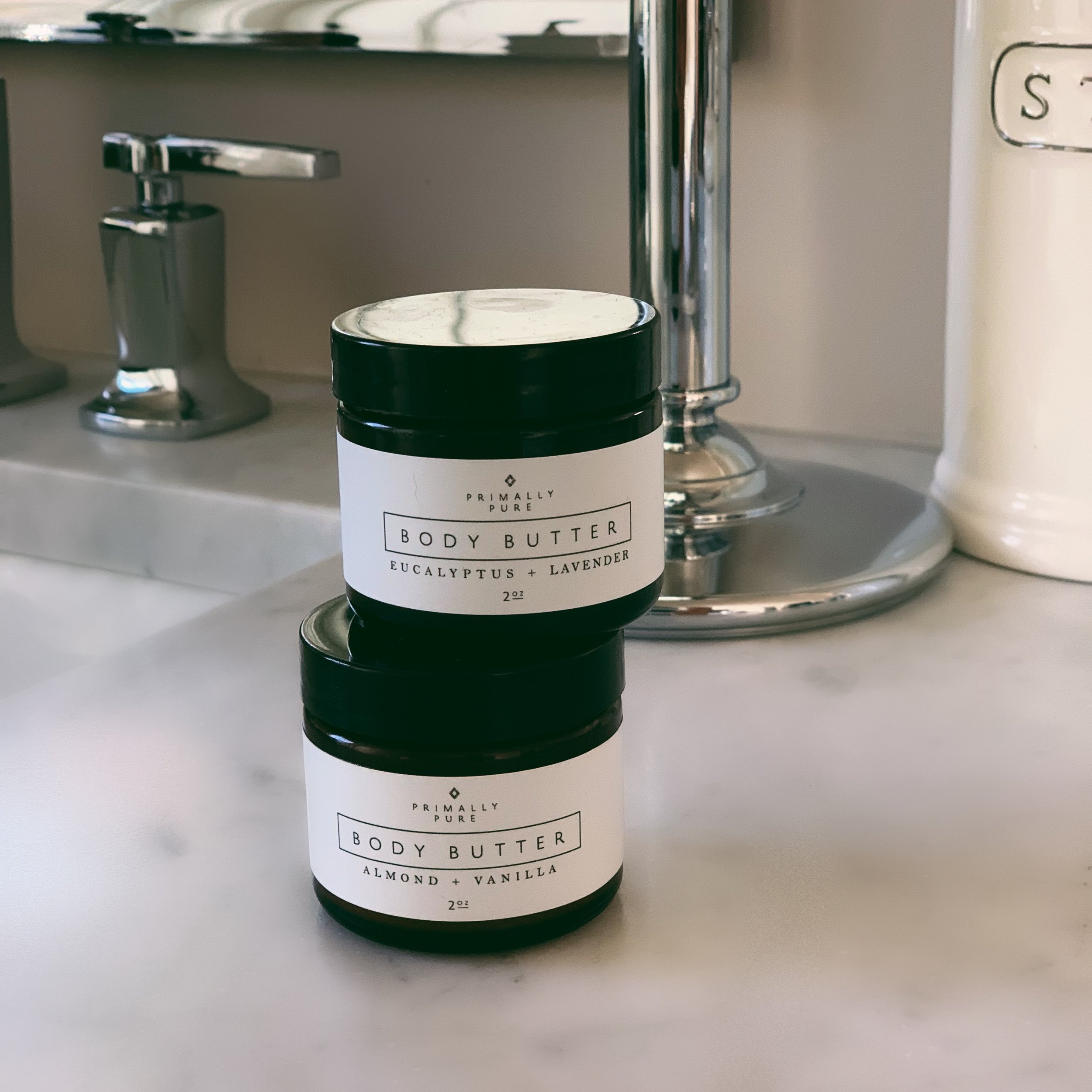 PRIMALLY PURE BODY BUTTERS - One of my favorite non-toxic skincare lines is Primally Pure. They make amazing body butters, which I am ADDICTED TO, a Blue Tansy face cream, which I use when I want to save my Vintner's daughter and it's luxurious AF, and a baby oil, which I legit pour onto my boys because it's so nourishing for their skin. Browse the Primally Pure website and shop. My discount code kalejunkie saves you 10% on your entire purchase! ($18)