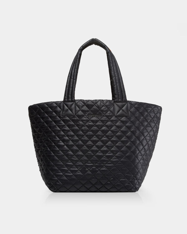 MZ WALLACE MEDIUM METRO TOTE - If you are new to the MZ Wallace line, before you start investing in the other fun bags, you need to start with a staple. The staple bag that started my addiction to MZ Wallace, is this Medium Metro Tote in Black. It's lightweight, super functional, has lots of inside storage space, and doubles as a work bag, purse, gym bag, and diaper bag all in one! ($215)