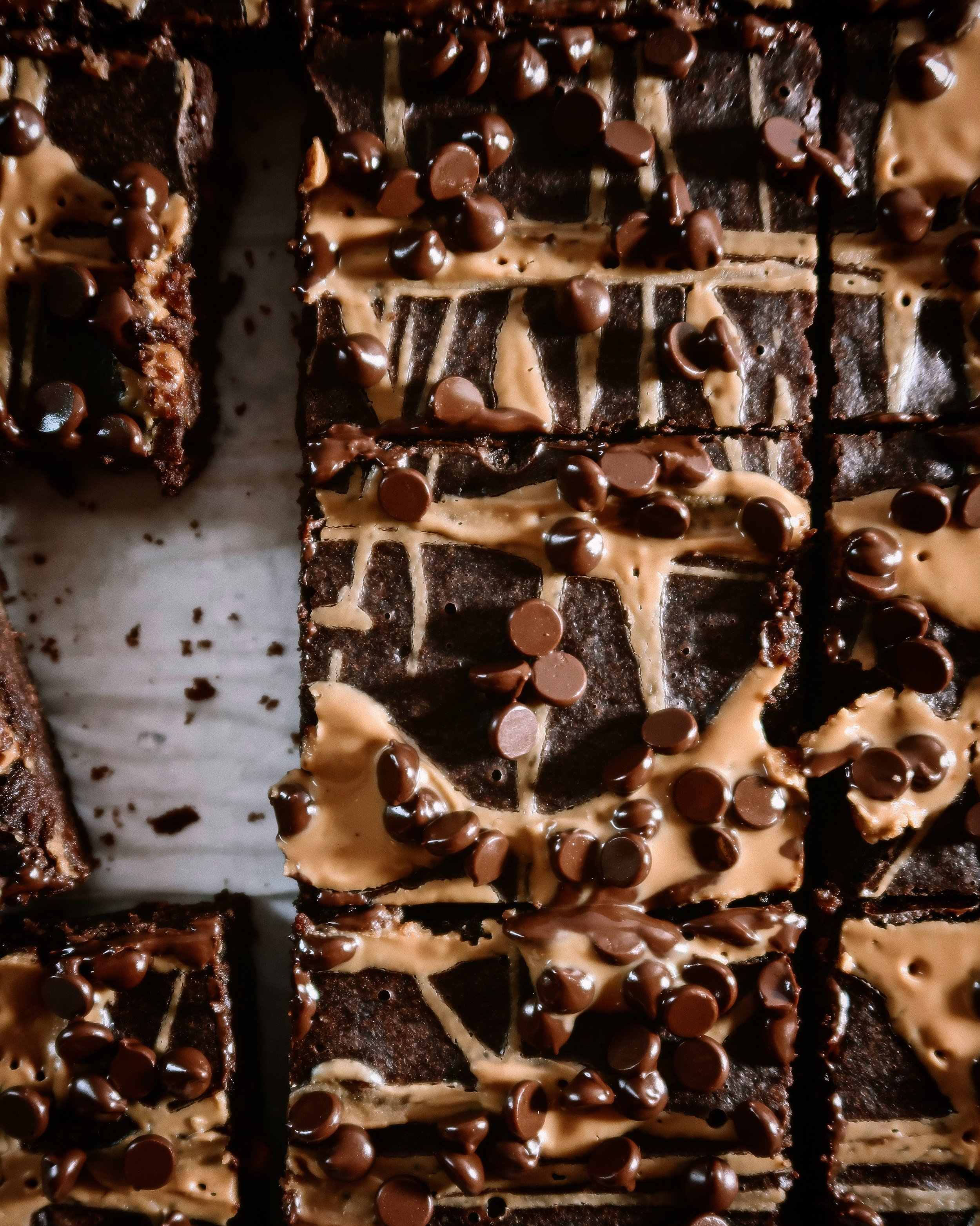 PEANUT BUTTER BROWNIES - INGREDIENTS2 eggs (or 2 flax eggs)1 cup non-dairy milk1 cup gluten free flour (or gluten free oat flour or regular flour)1/3 cup cacao powder1 cup peanut butter1 tsp baking powder1 tsp vanilla extract1/2 cup coconut sugarpinch sea salt1/2 cup dairy free chocolate chips