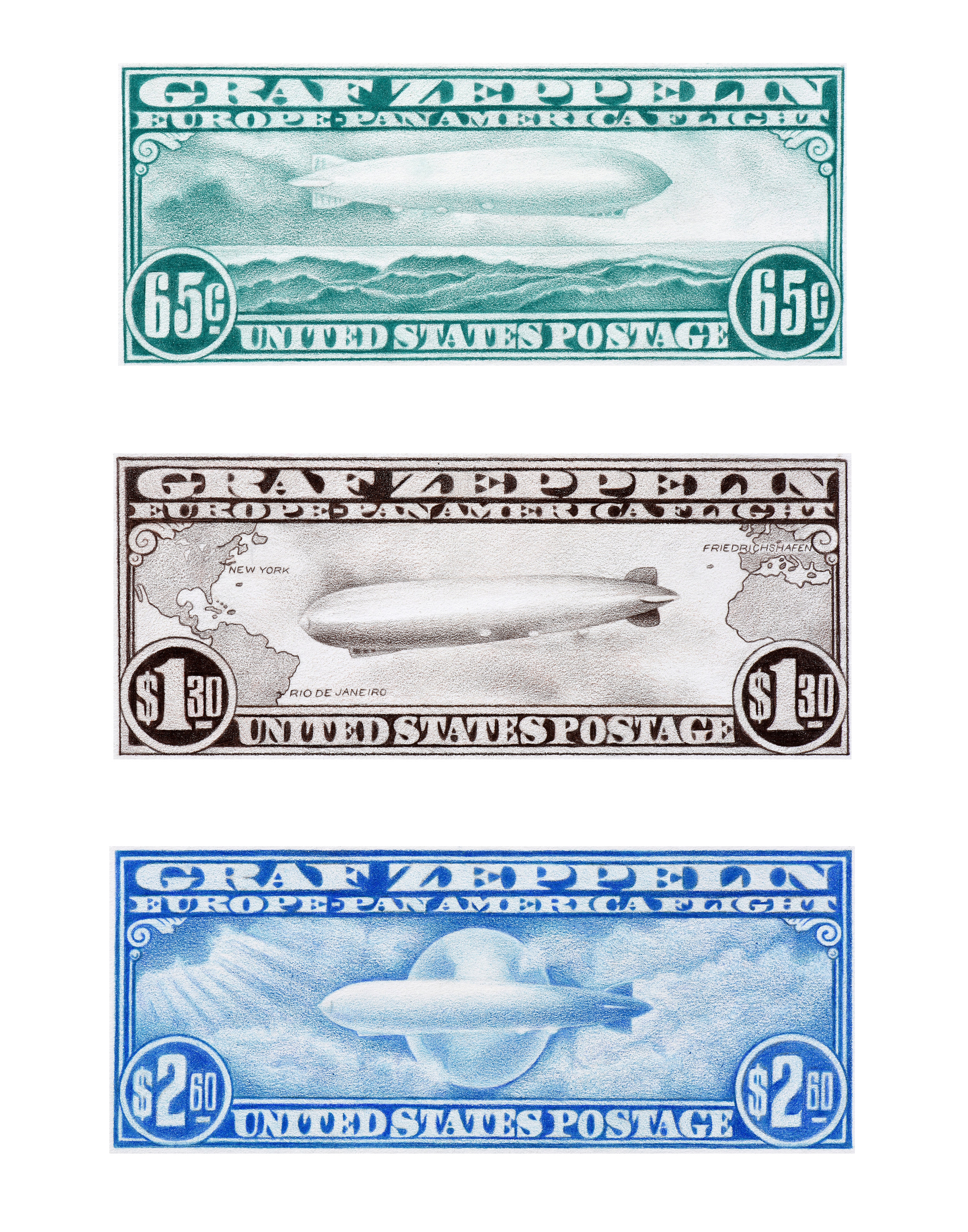 Zeppelin Stamps
