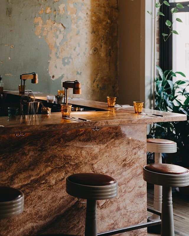 Le Café Parvis — simple... yet so aesthetically pleasing.
