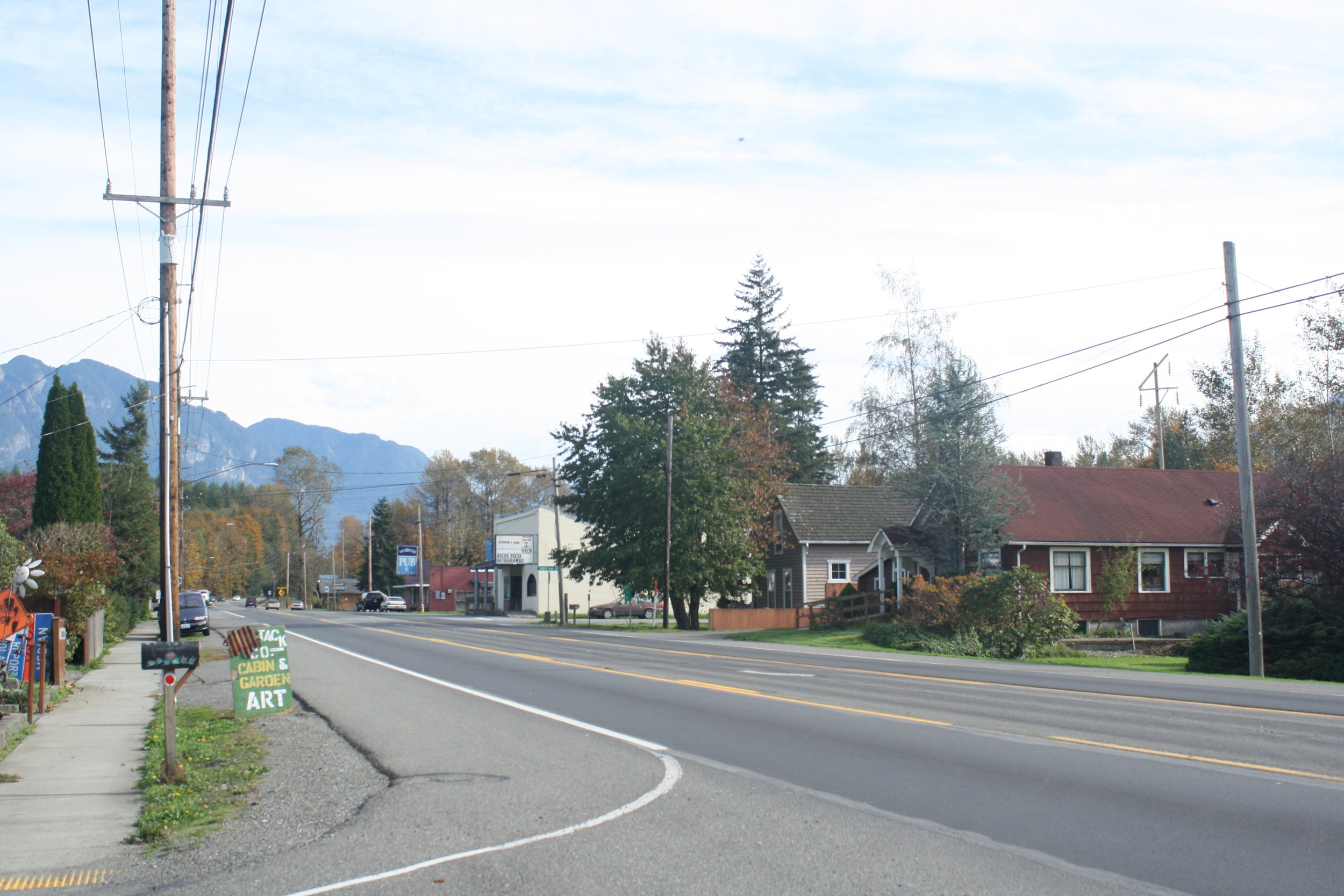 Unincorporated Snohomish County is predominantly rural, but includes some small towns.