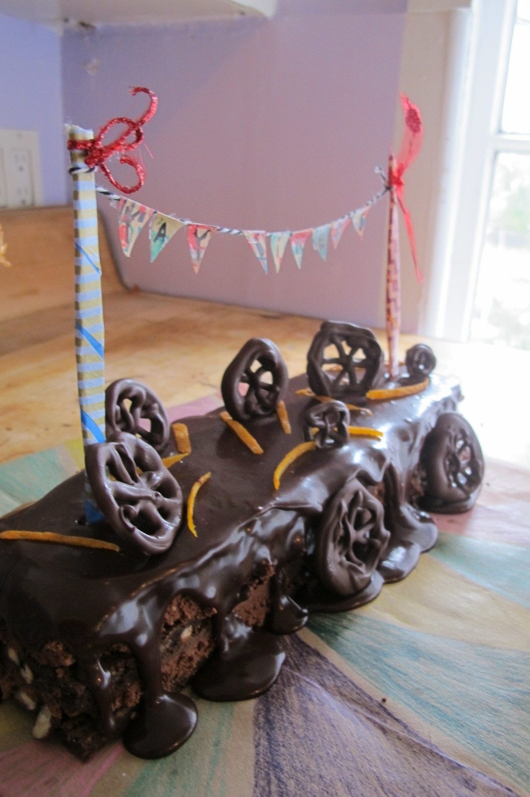Elaborate homemade birthday cakes