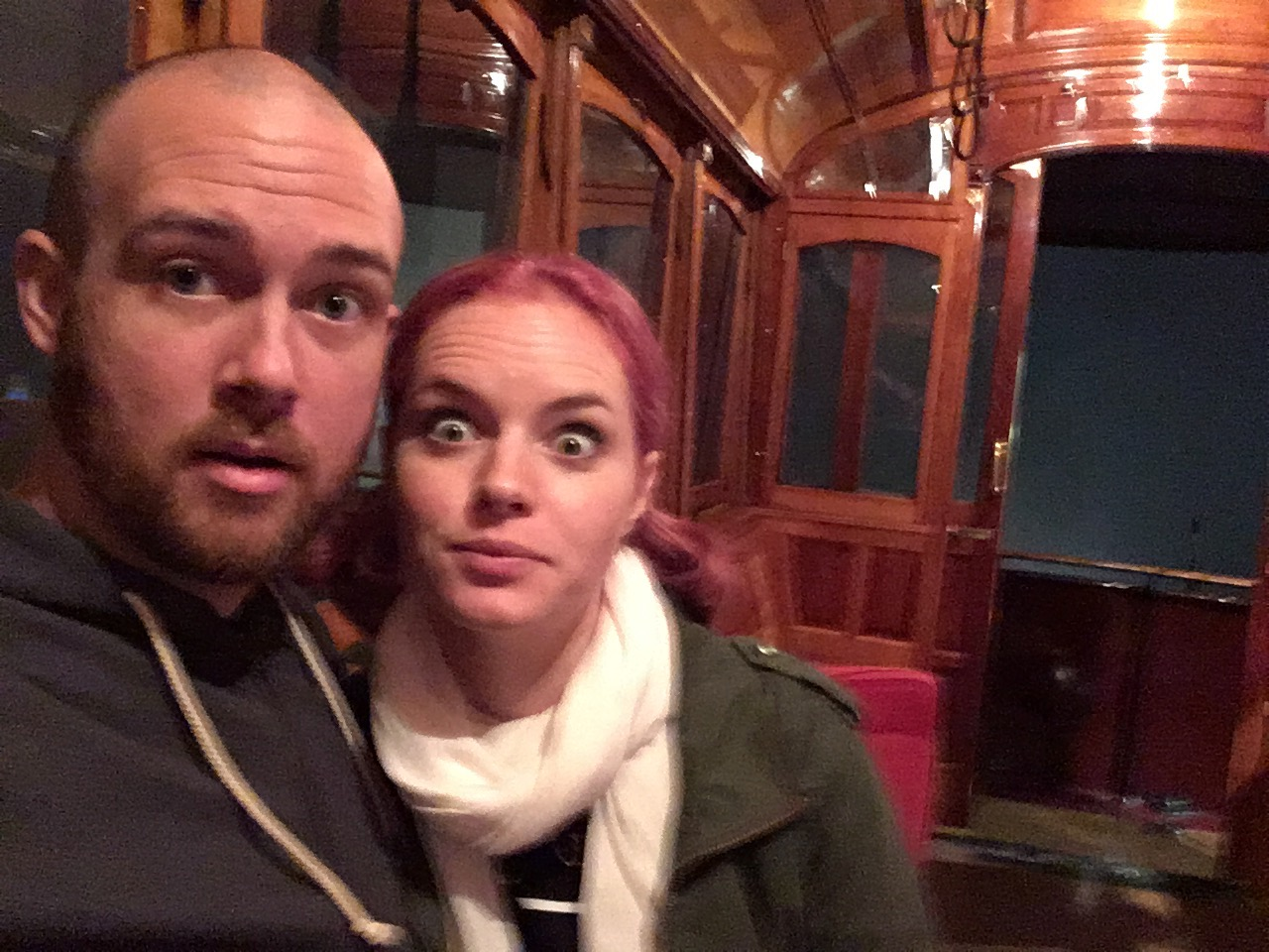 Just a couple of fuzzy weirdos goofing around in one of worst museums we found in New Zealand.