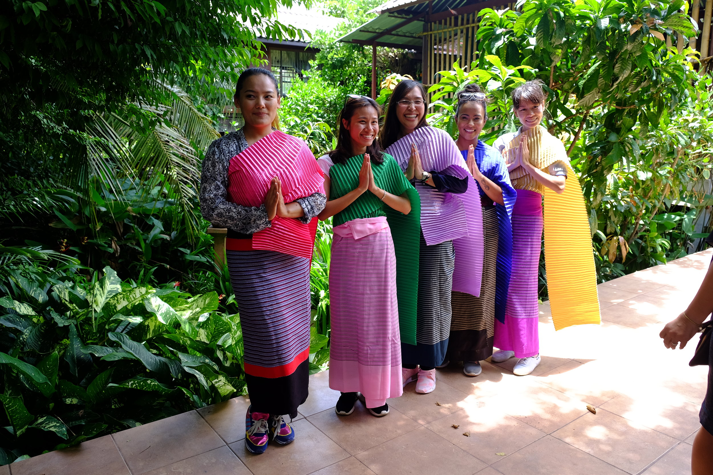 MAIDS Students enjoy wearing Thai traditional Costume