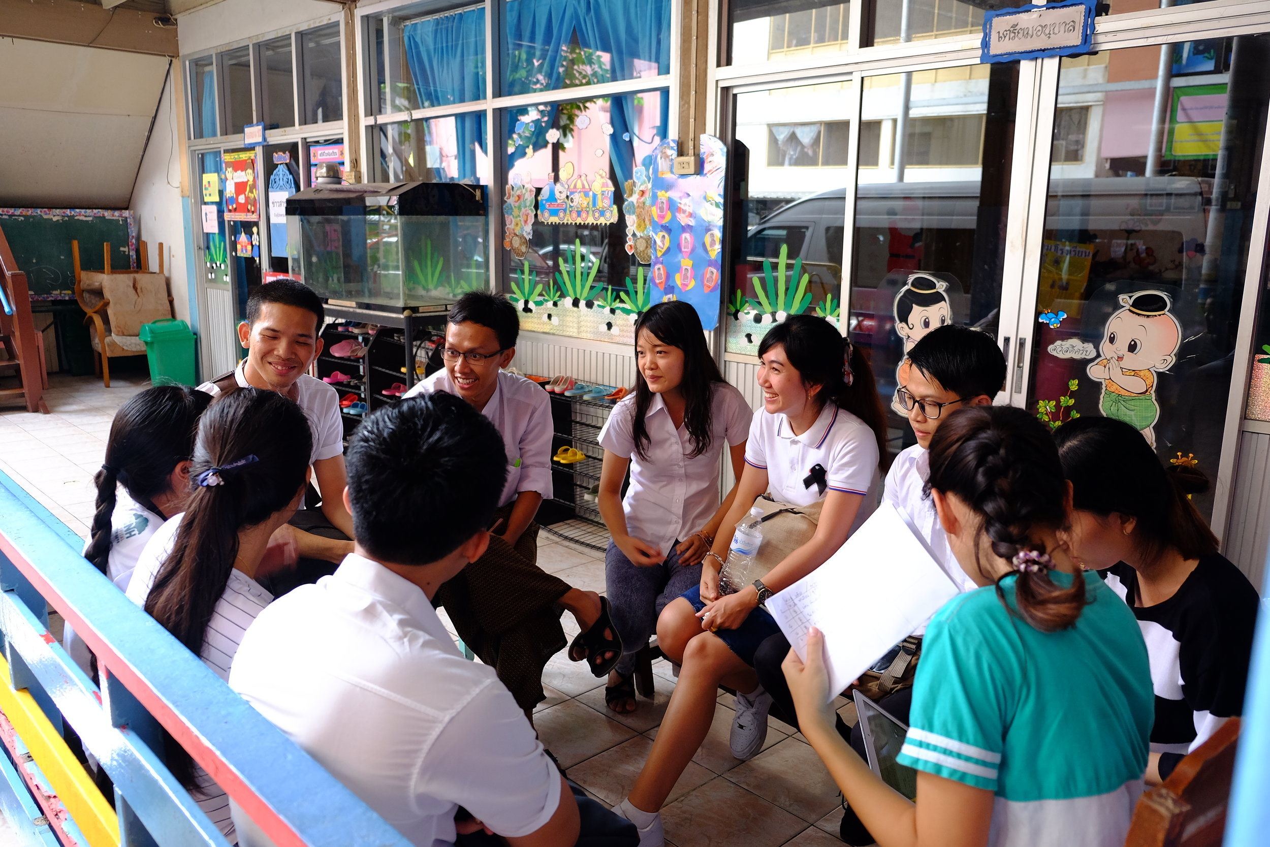 After Lunch MAIDS Students start interviewing Students at DEAR Burma