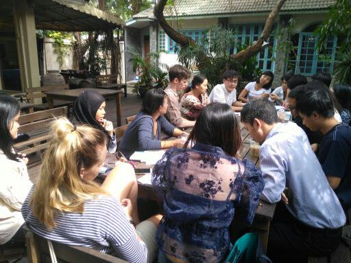 a final discussion after lunch for field trip summary and feedback