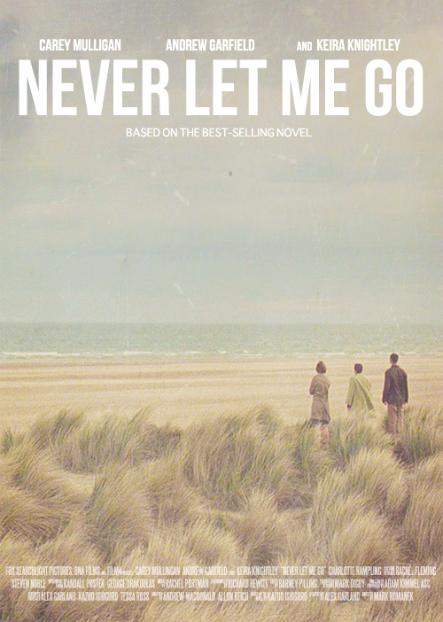Never Let Me Go (2010) - Be prepared for tears. lots of them. Never Let Me Go follows three best friends as they grow up in a boarding school that breeds children for organ donation. Trying to live and normal life isn't easy when you know your fate but they try to make the most of it. Get the tissues ready for this coming of age story with a dystopian twist.