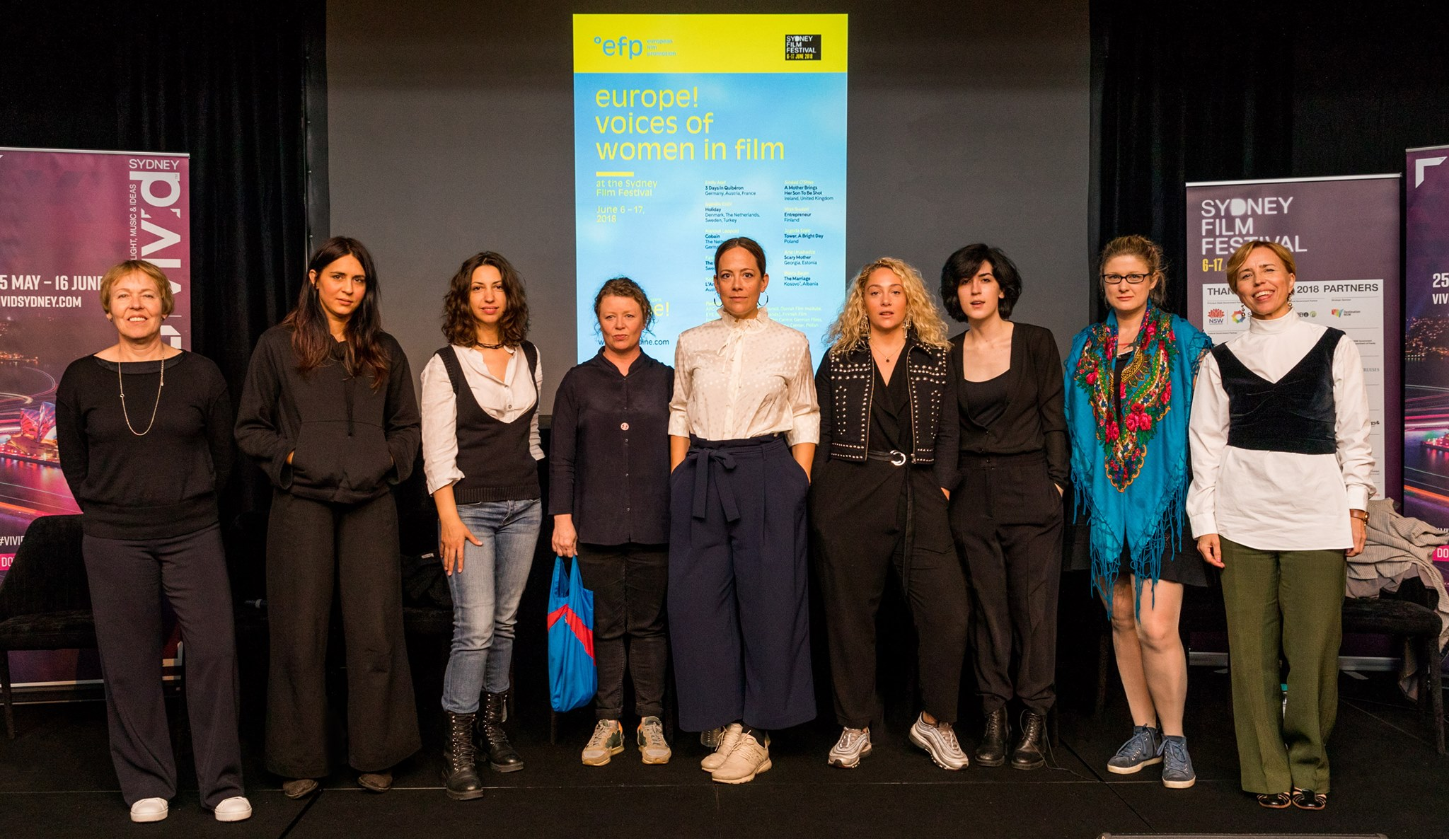 """""""Vivid Ideas and SFF Present: In Conversation with European Women Filmmakers"""" was held on June 10, 2018 as part of the Sydney Film Festival Program."""