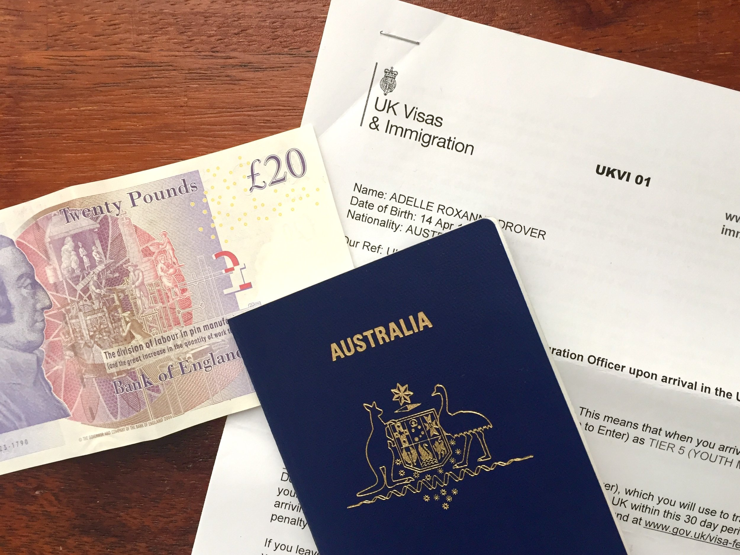 Once my UK VISA arrived suddenly there was no turning back