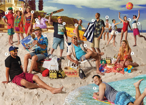 'Christmas with Your Locals' Liquor Barons' 2017 Christmas Catalogue cover.