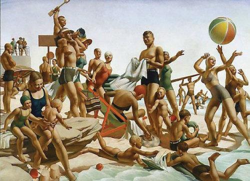 'Australian Beach Pattern' by Charles Meere (1940).