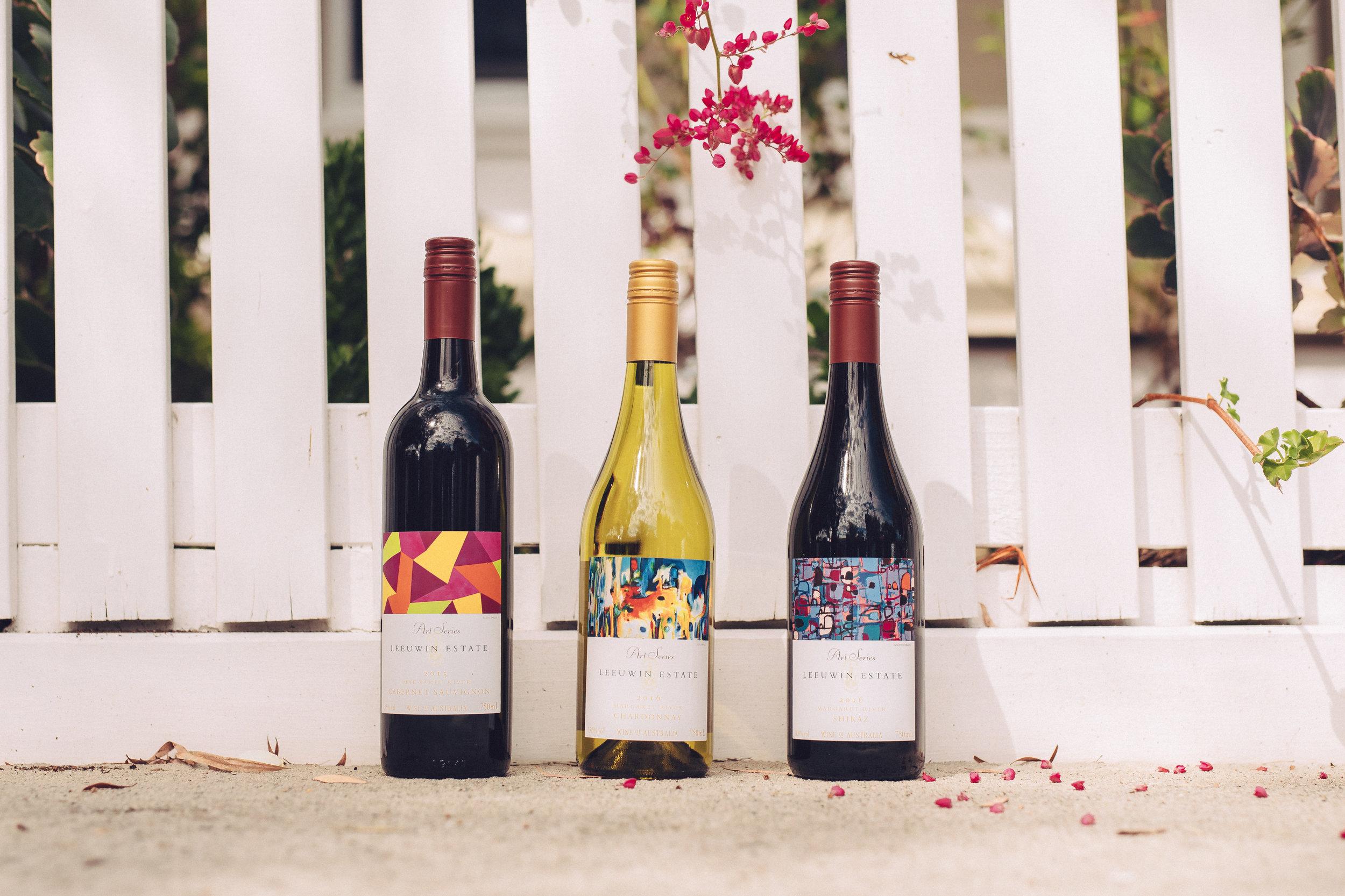 Leeuwin Art Series Cabernet Sauvignon 2015, Chardonnay 2016 and Shiraz2016