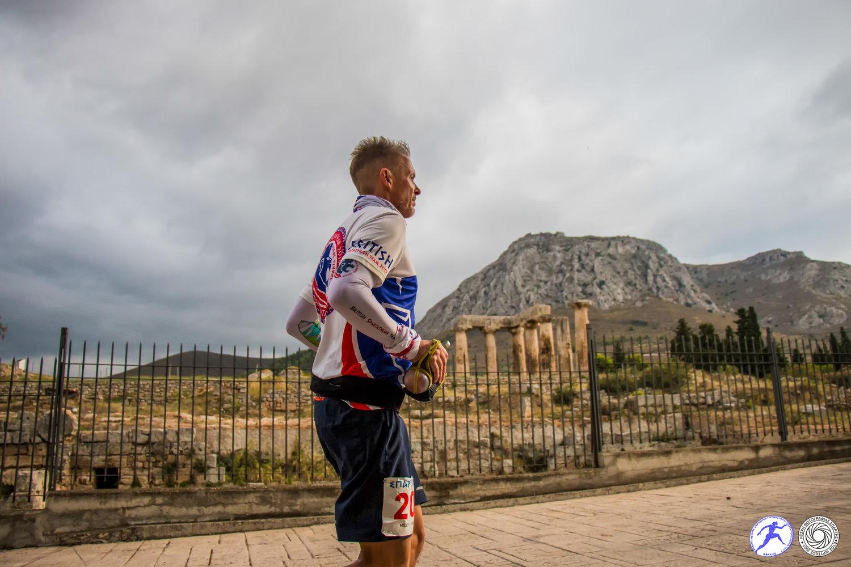 Running by the ruins at Ancient Corinth. Pic Spartathlon