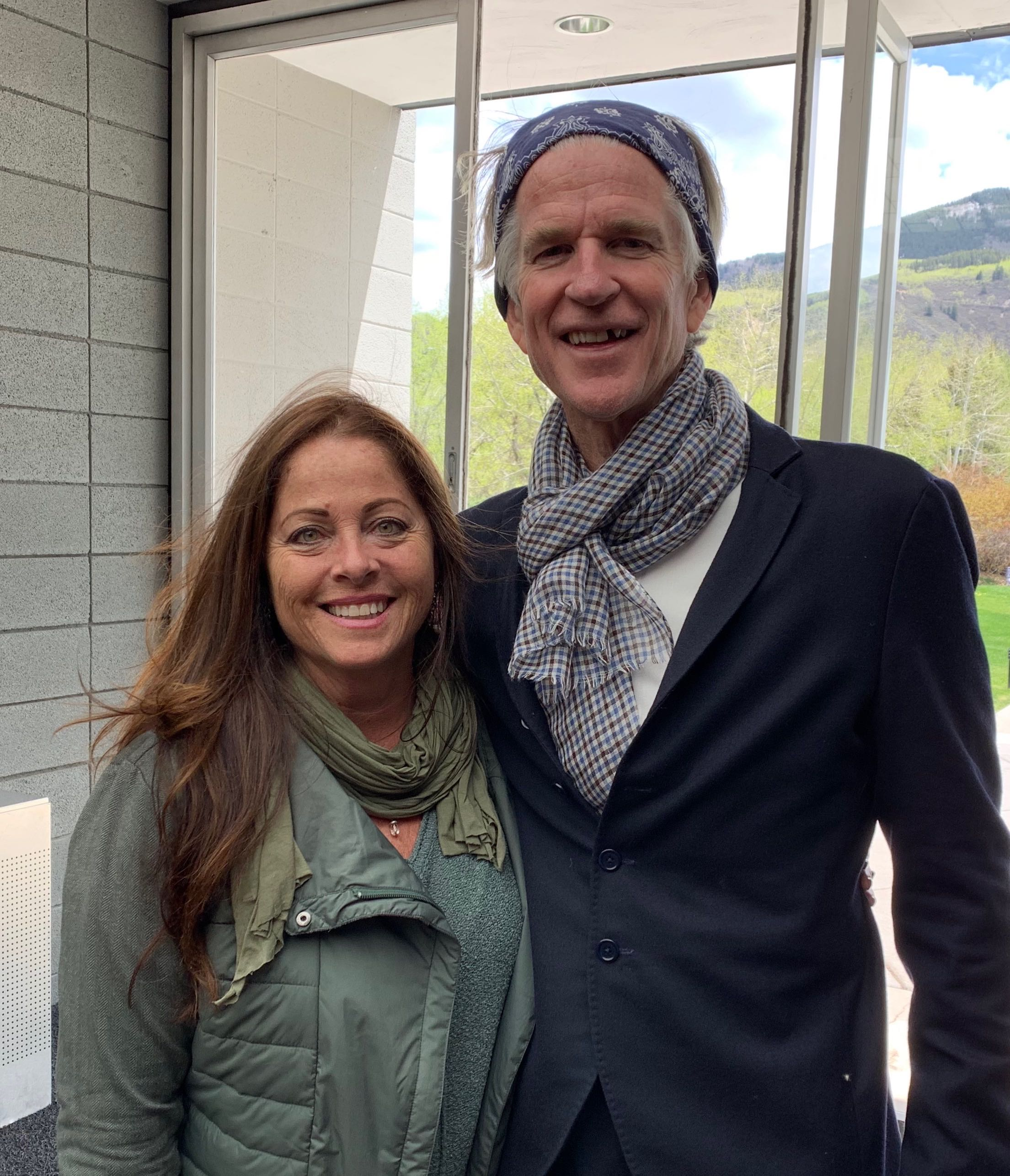 Wendy with Matthew Modine, a World Tree fan.