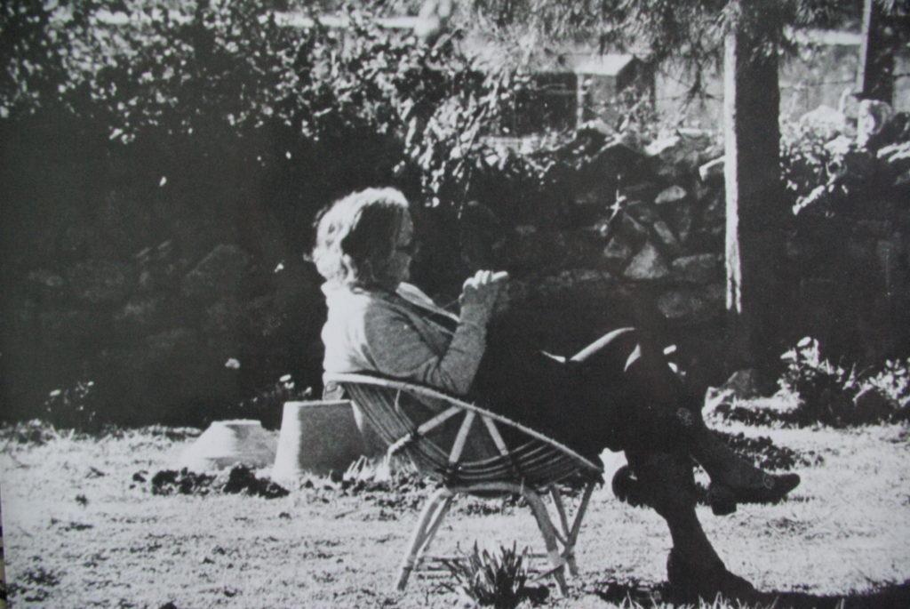 Crystall Bennett in the Institute garden