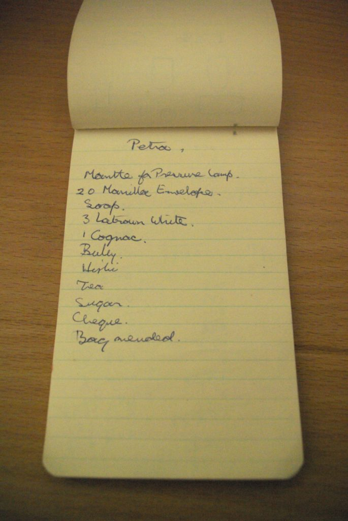 Checklist for Petra