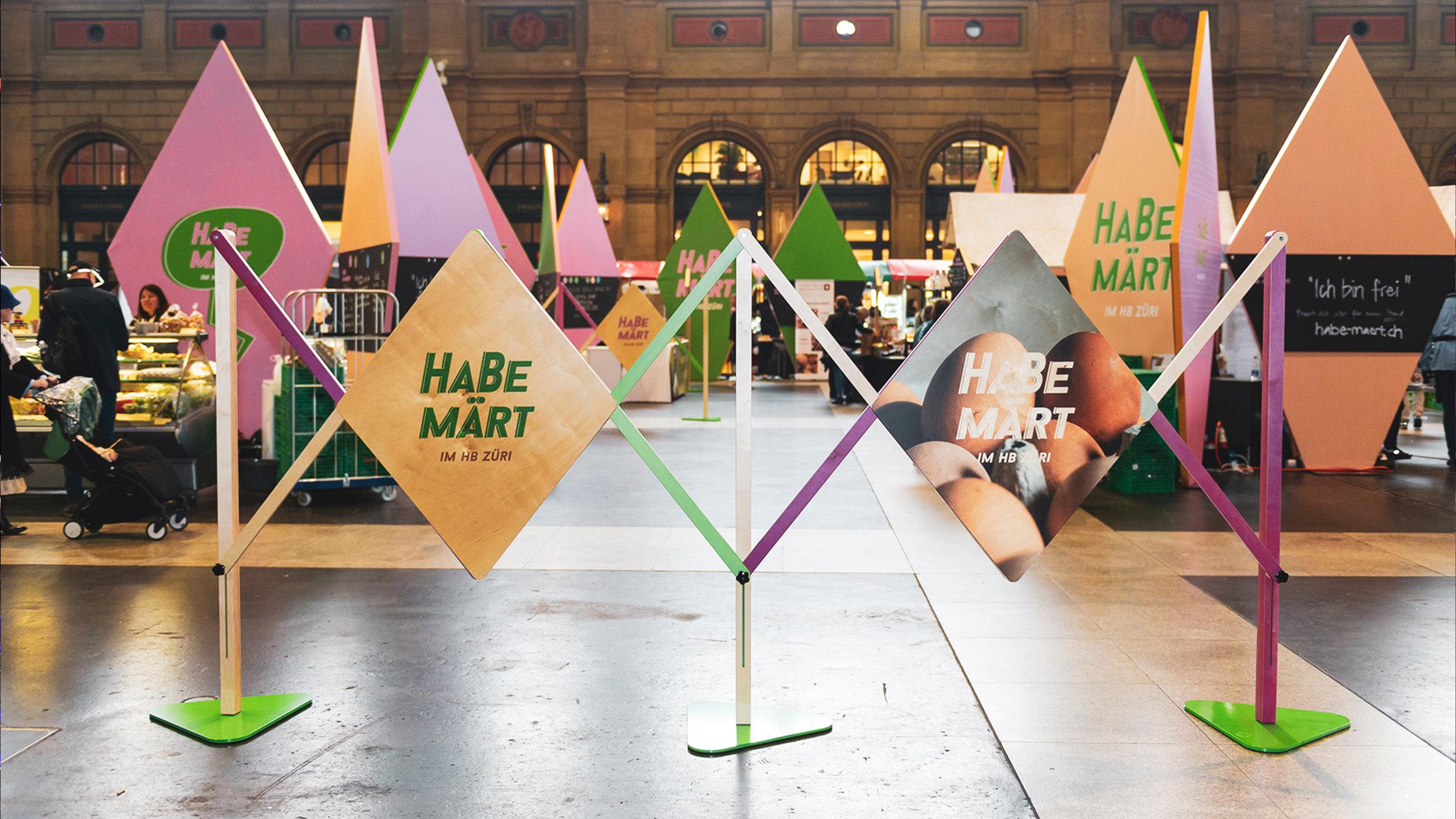 zurich main station 2019 - ''HABE MÄRT''  -HABE MARKET