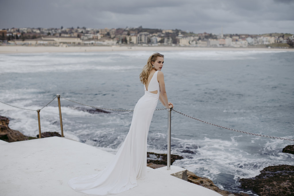 The Bowery wedding dress by Jackson and Grace with creative direction by LOVE FIND CO. Creative Studio