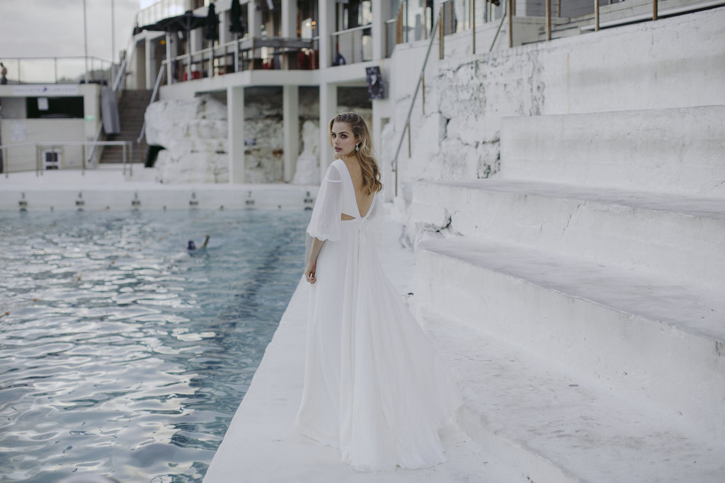 Margot wedding dress by Jackson and Grace with creative direction by LOVE FIND CO. Creative Studio