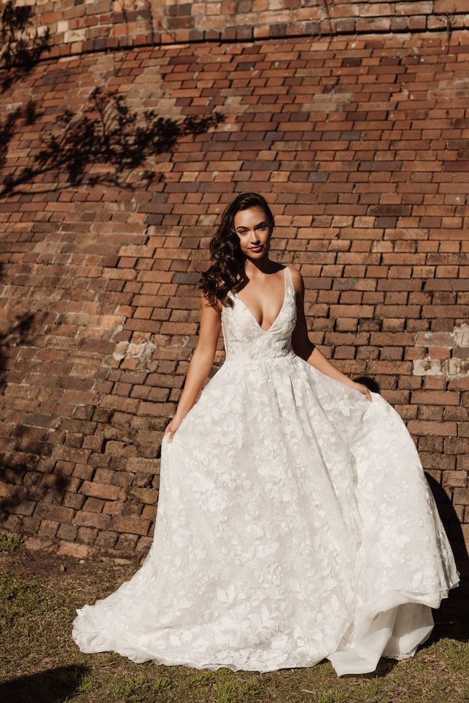 Wedding dress by Hera Couture featured on LOVE FIND CO.