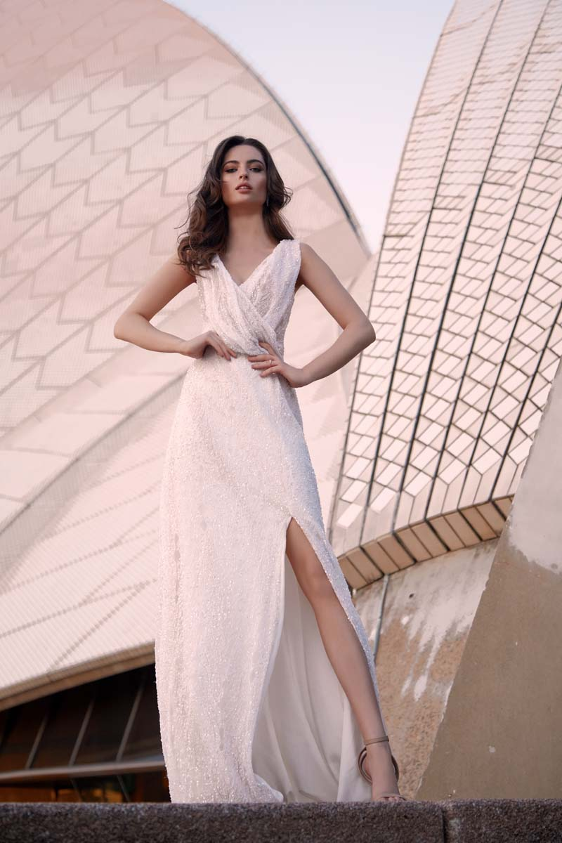 Wedding Dress from the Moira Hughes Lovestruck Collection with creative direction by LFC Creative Studio