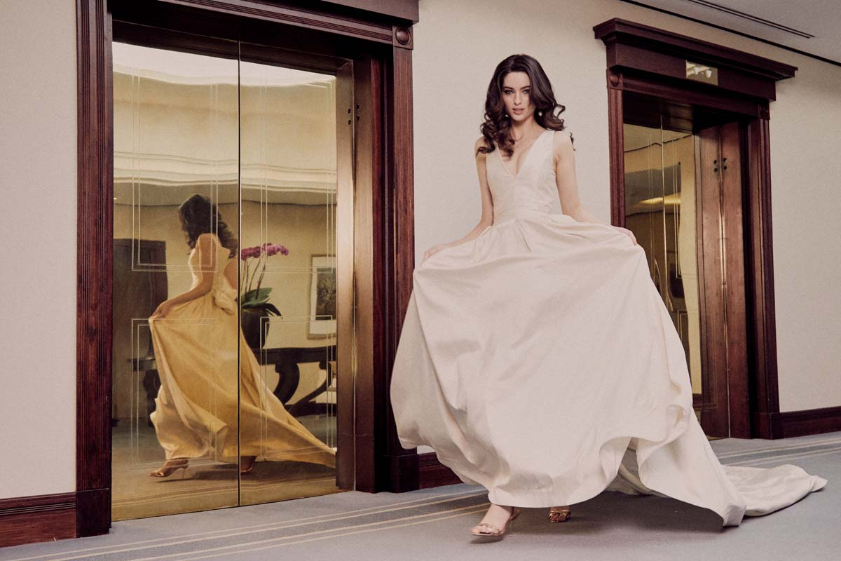 The Penelope wedding dress from the Moira Hughes Lovestruck Collection with creative direction by LFC Creative Studio