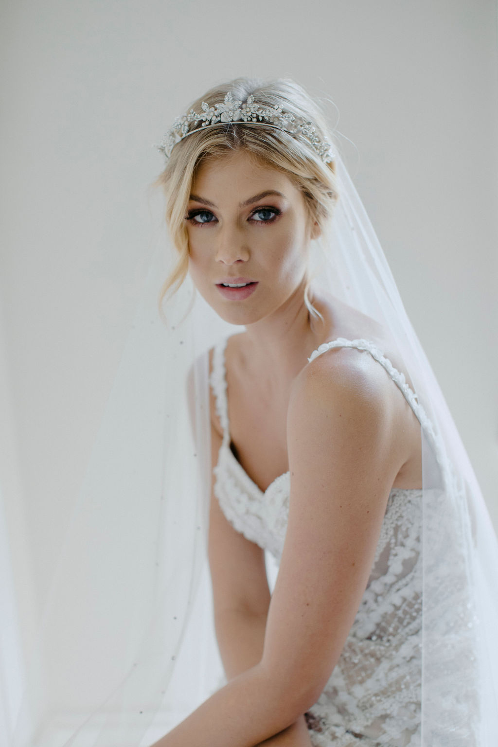 CASHMERE | CRYSTAL WEDDING TIARA by TANIA MARAS