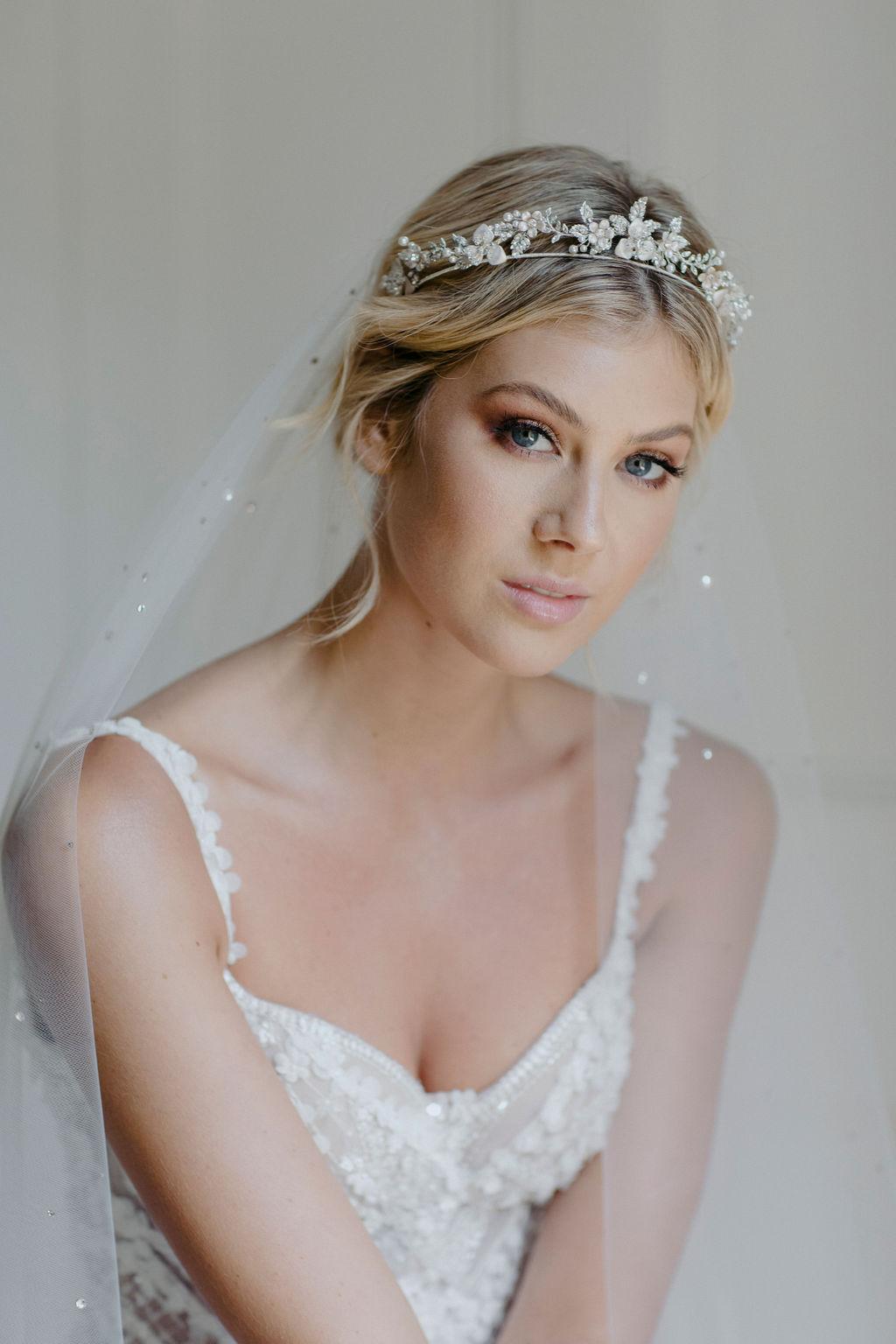 CASHMERE | CRYSTAL WEDDING TIARA by TANIA MARAS