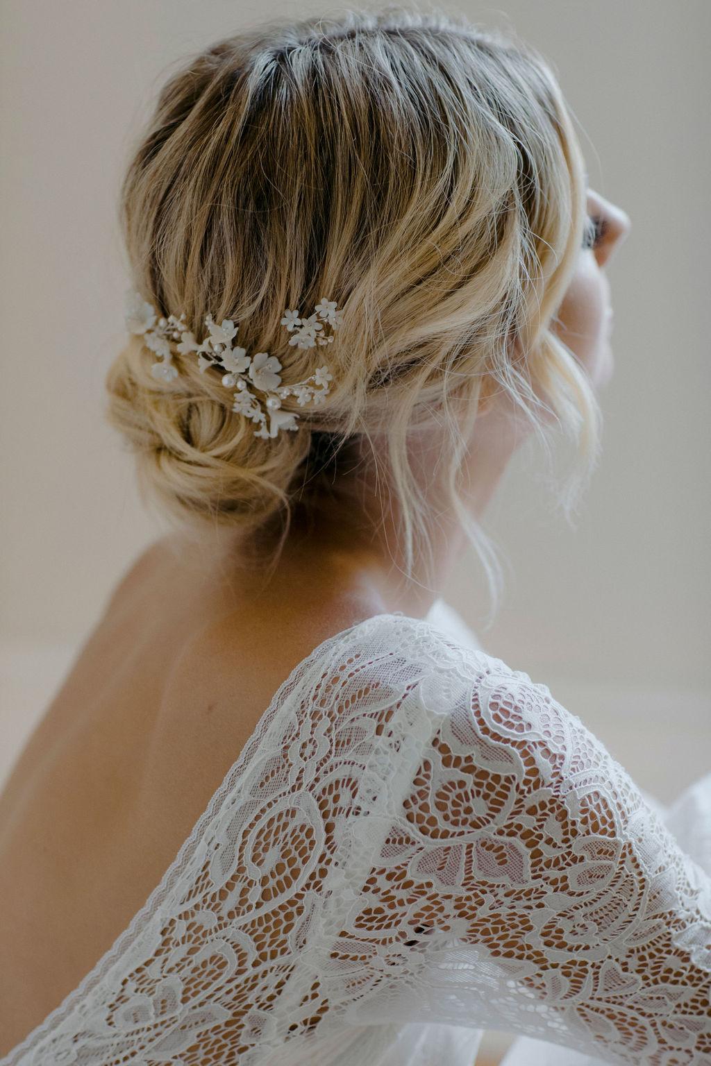 CHERRY BLOSSOM | WEDDING HAIR PIECES by TANIA MARAS
