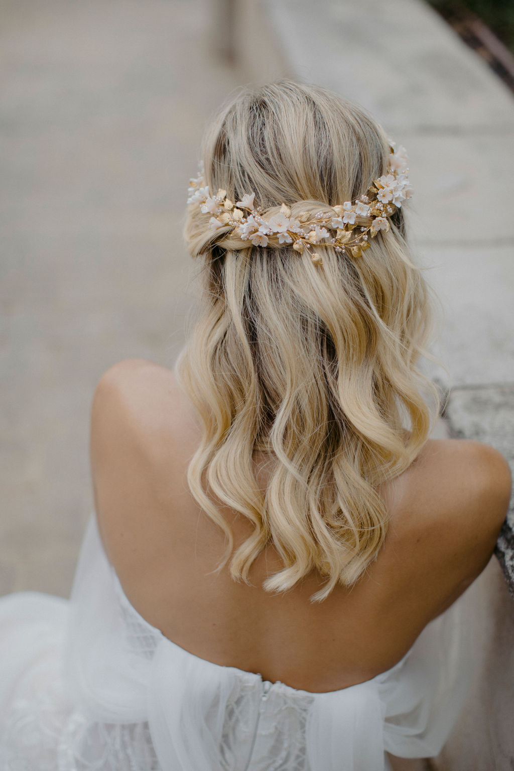 ANA ROSA | FLORAL WEDDING HEADPIECE by TANIA MARAS