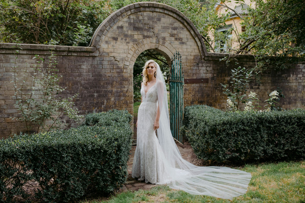 GEORGETTE | CLASSIC CATHEDRAL VEIL by TANIA MARAS