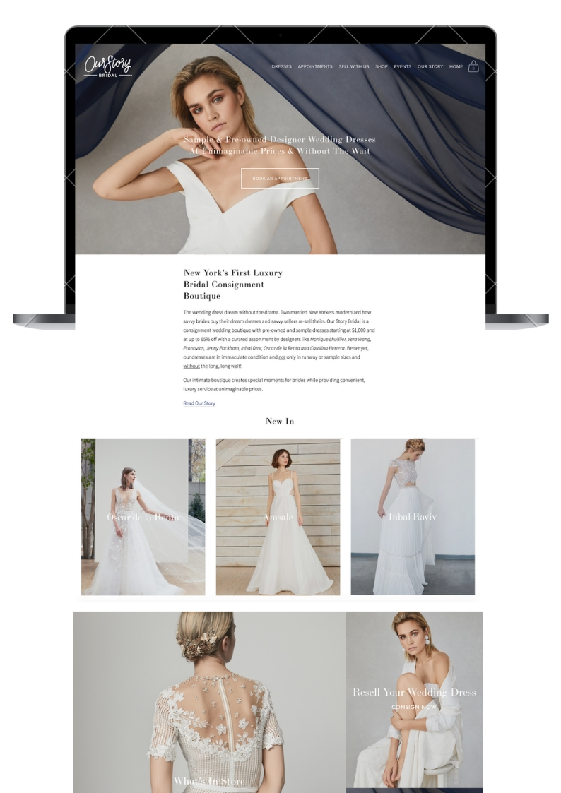 Our Story Bridal Website Design - Engaged Creative