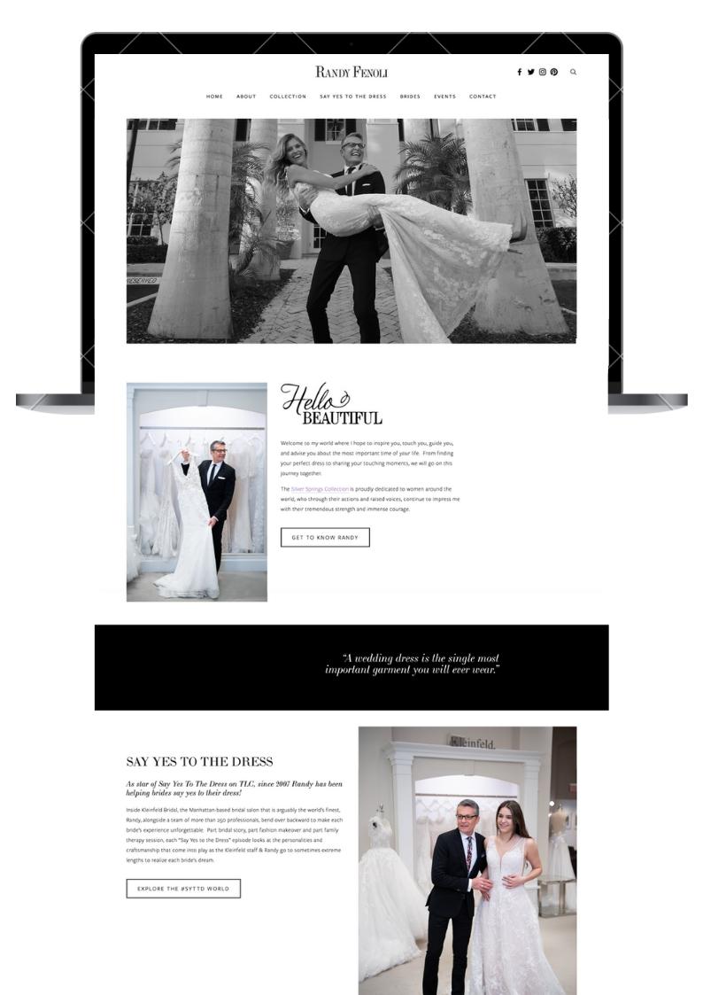 Randy Fenoli Website Design - Engaged Creative