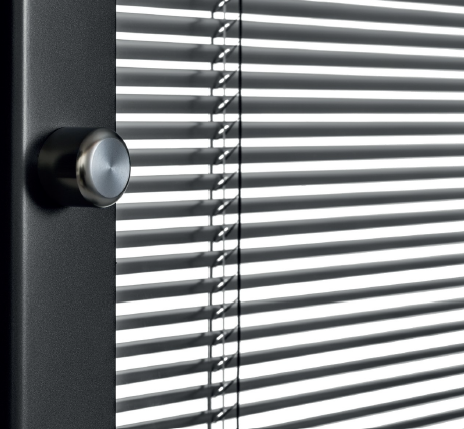 The turning knob control option is designed to effectively tilt the slats open or closed according to your preference
