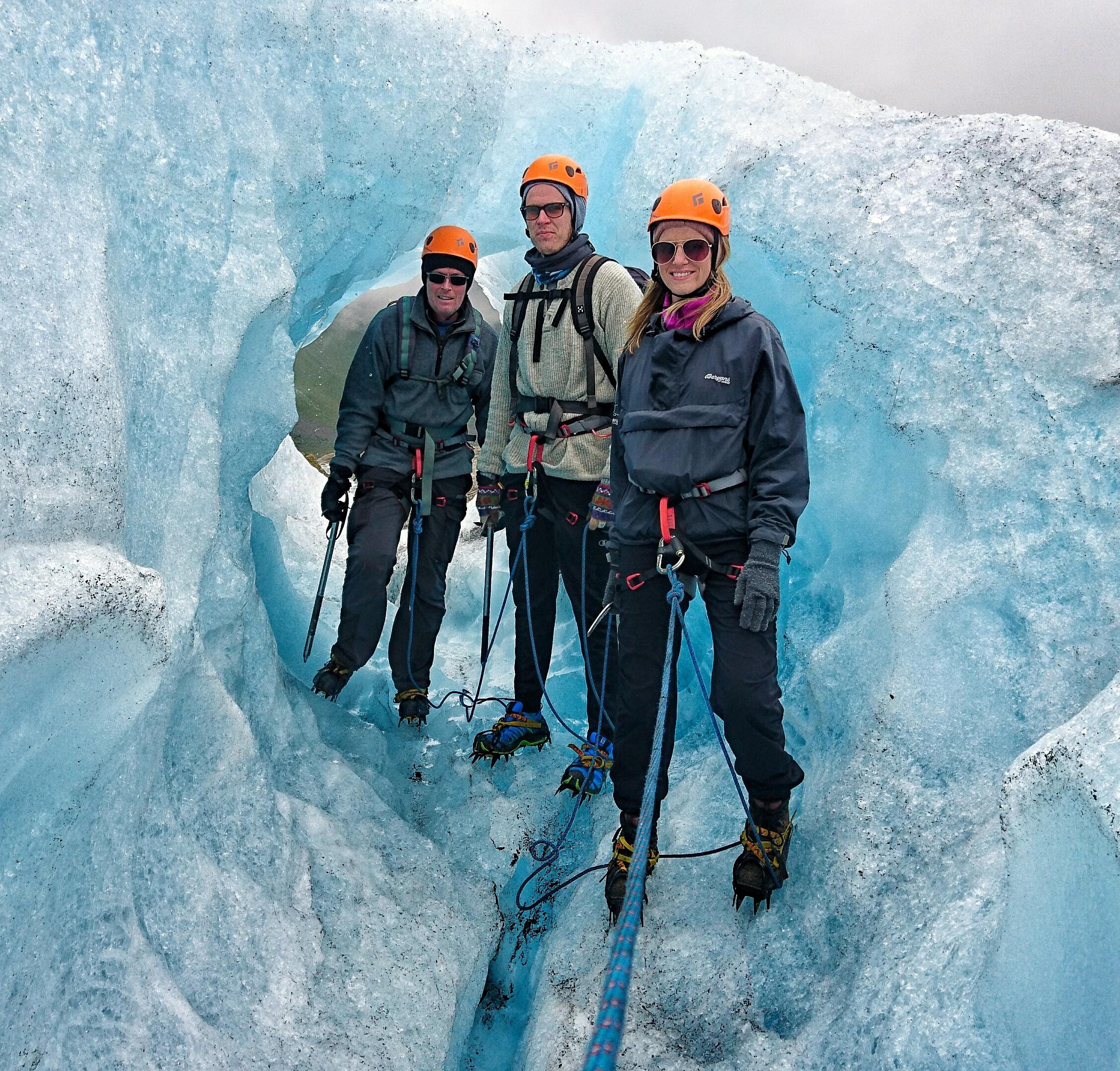 Price 900,- NOK - (minimum 4 people or minimum price 3400,-Included: Glacier equipment (crampons, ice axe, helmet, harness, carabiners, rope)