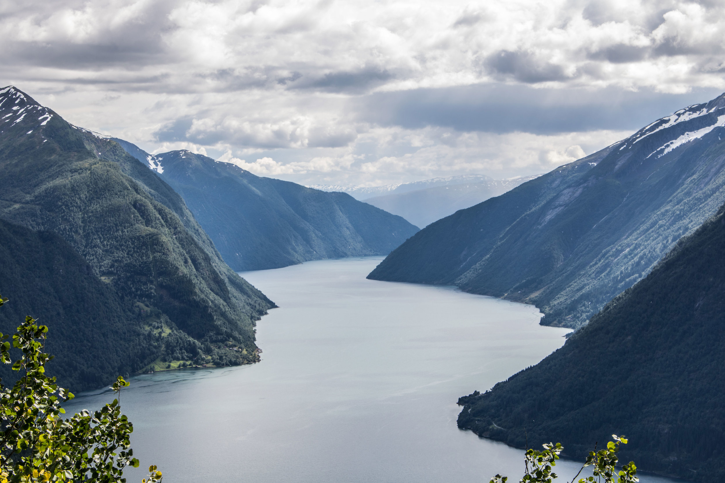 The Fjærlandsfjord.