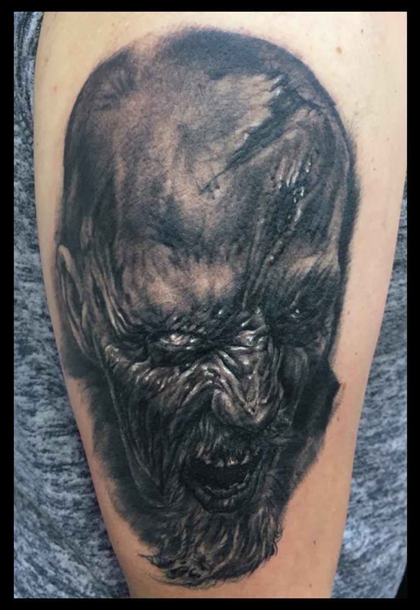 Back and Grey Zombie Tattoo (fresh)
