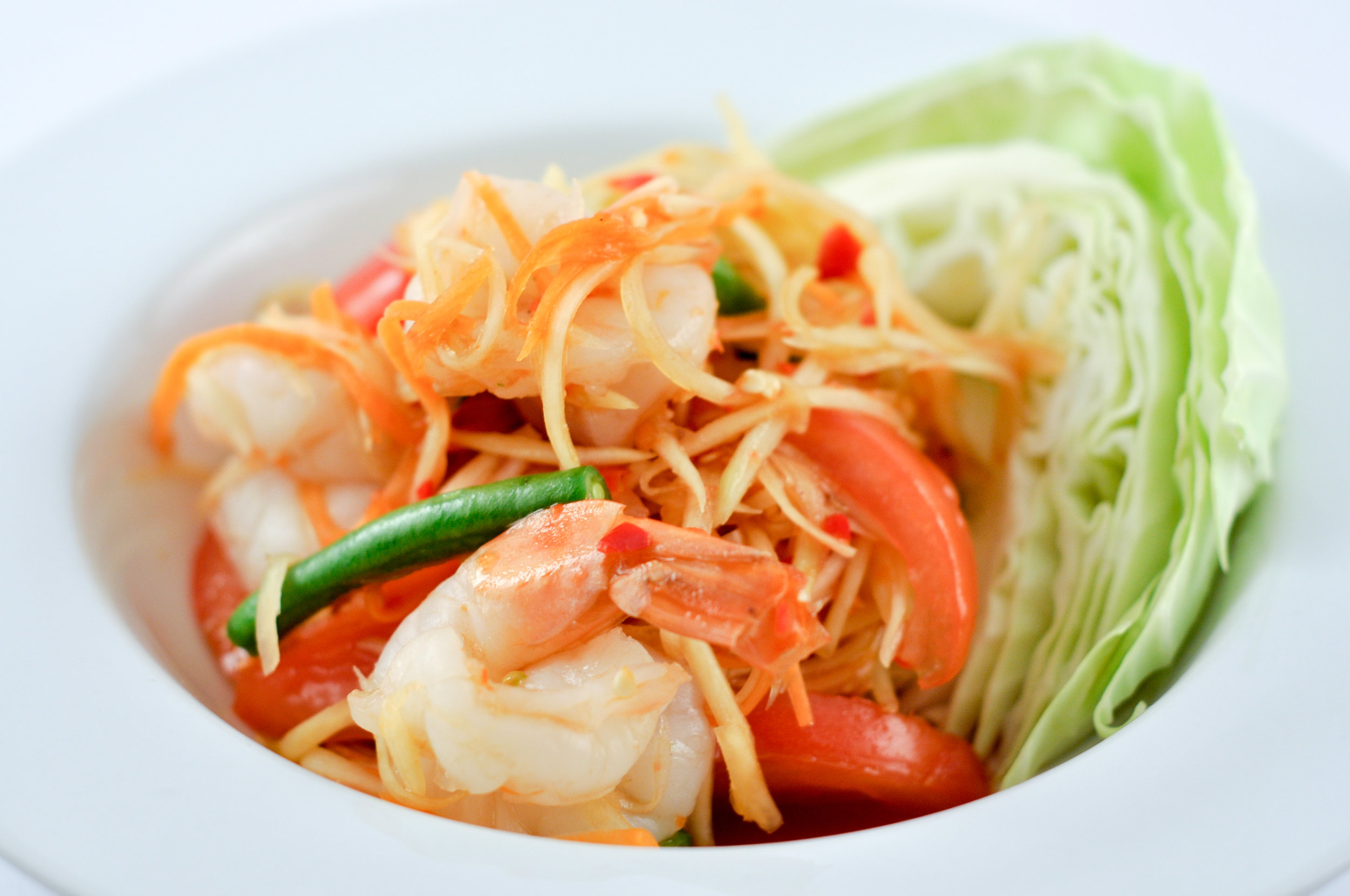 Tum Koong – Papaya Salad with Prawns