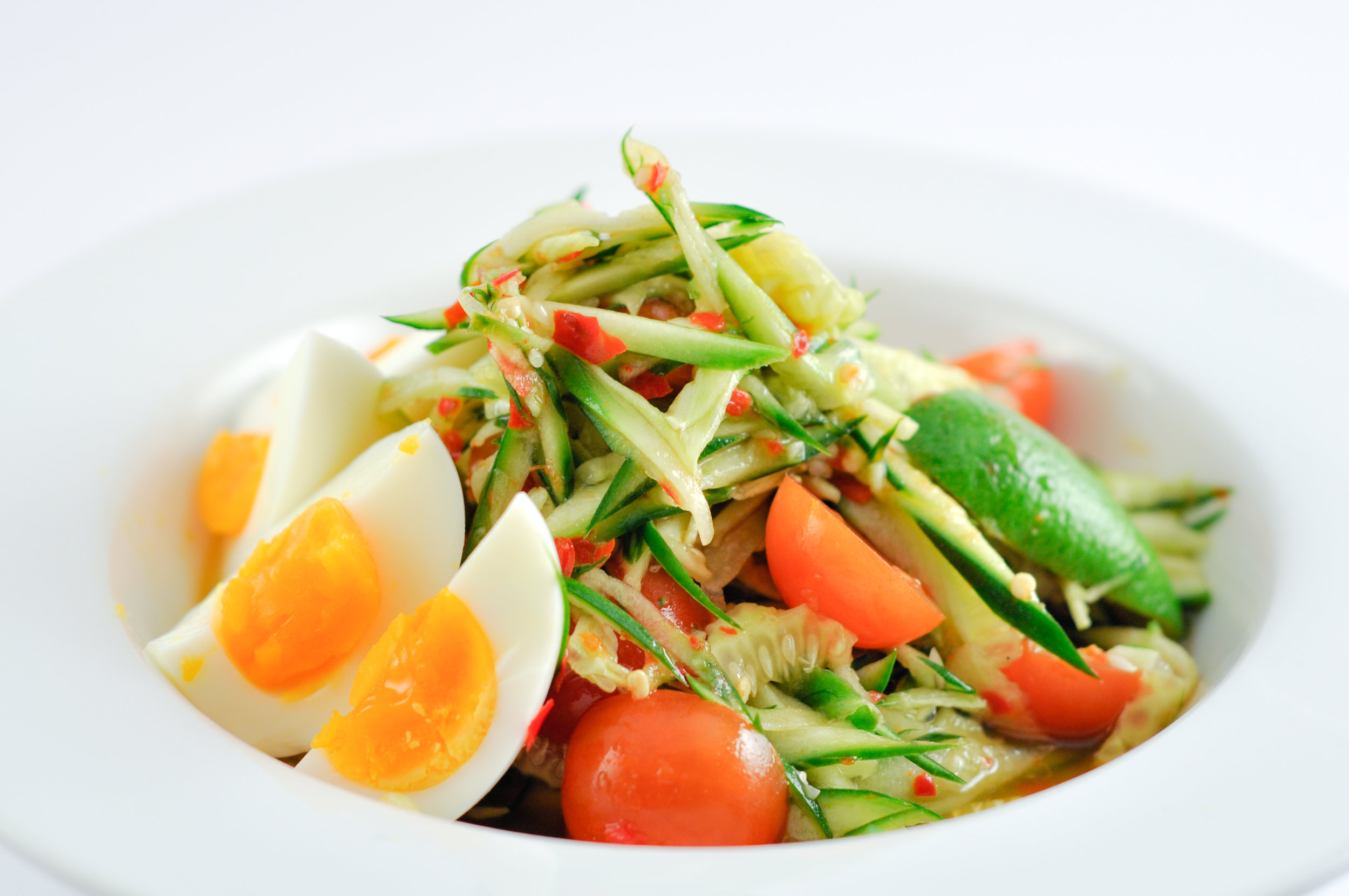 Tum Mark Dtang - Cucumber Salad