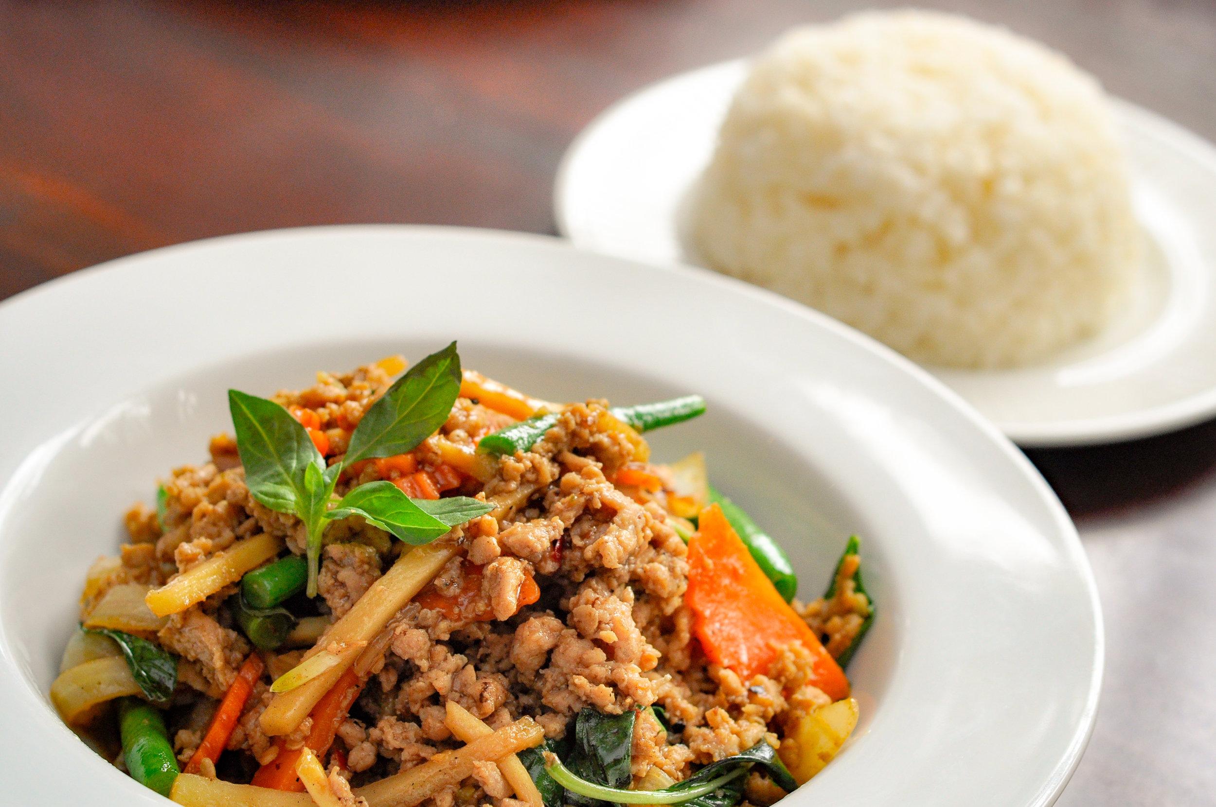 Thai Basil Chicken Stir-fried