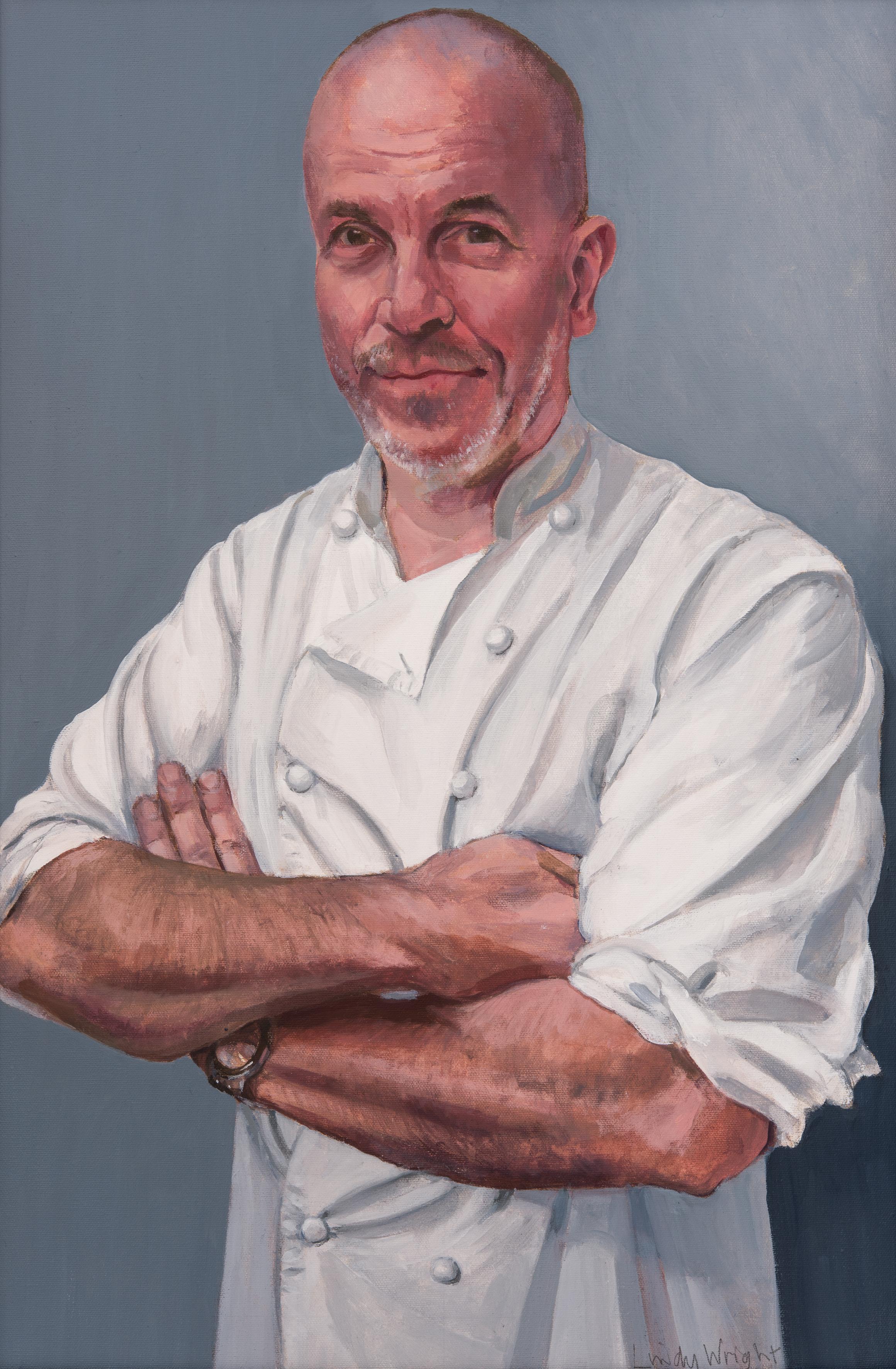 Richard Bertinet,  oil on canvas