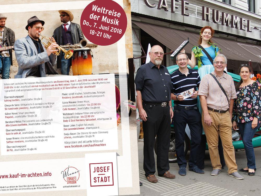 """Im Rahmen der Wiener Einkaufsstraßen Awards 2016 konnte die """"Weltreise der Musik"""" den 4. Platz in der Kategorie """"Bestes themenbezogenes Event"""" gewinnen!"""