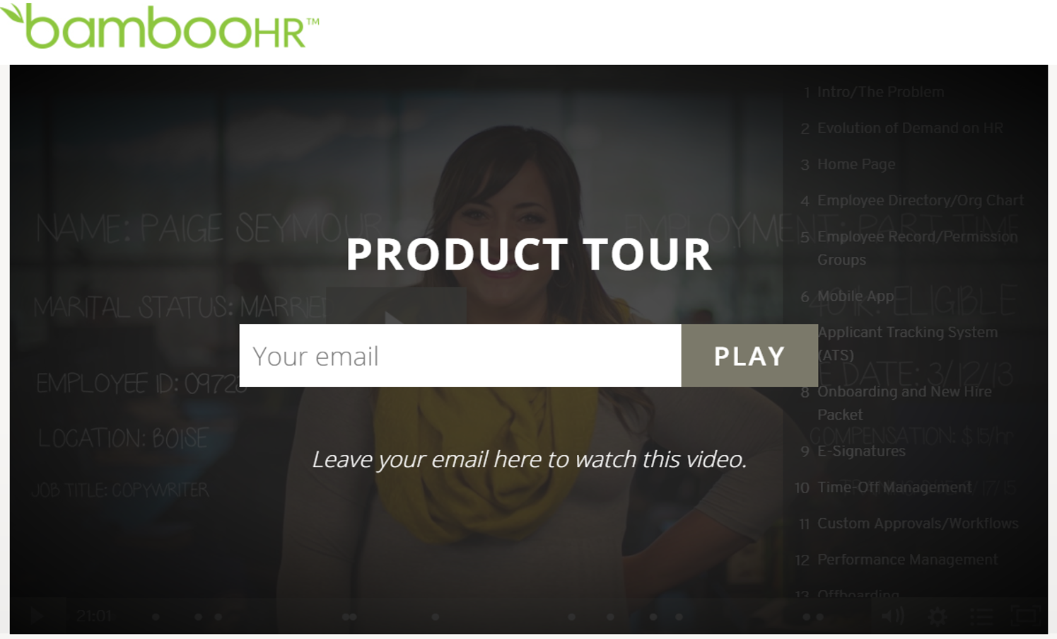 This is a link to a recorded product tour/demo. It's about 20 minutes long and is packed with great information!