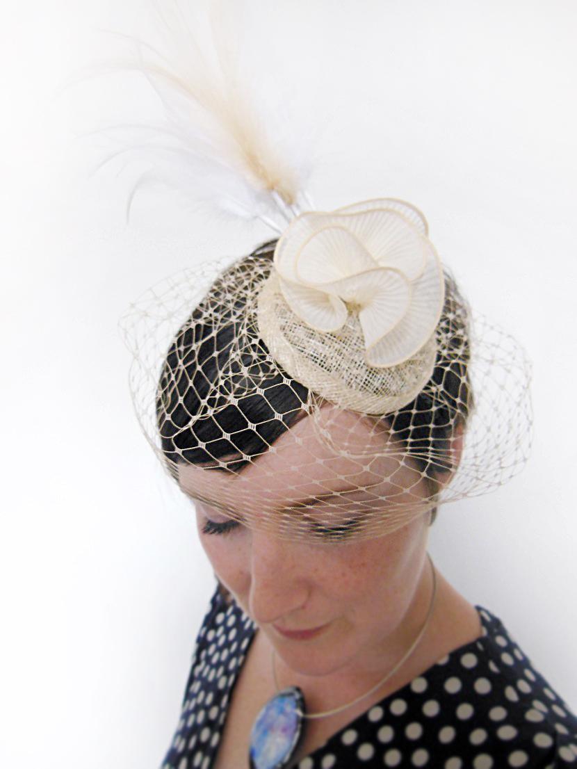 The Crafty Hen, Bespoke Bridal Fascinator, Bristol